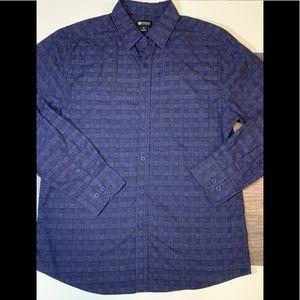 Haggar Men's Long Sleeve Button Up